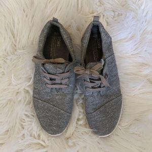 Tom's Gray Del Ray Tennis Shoes